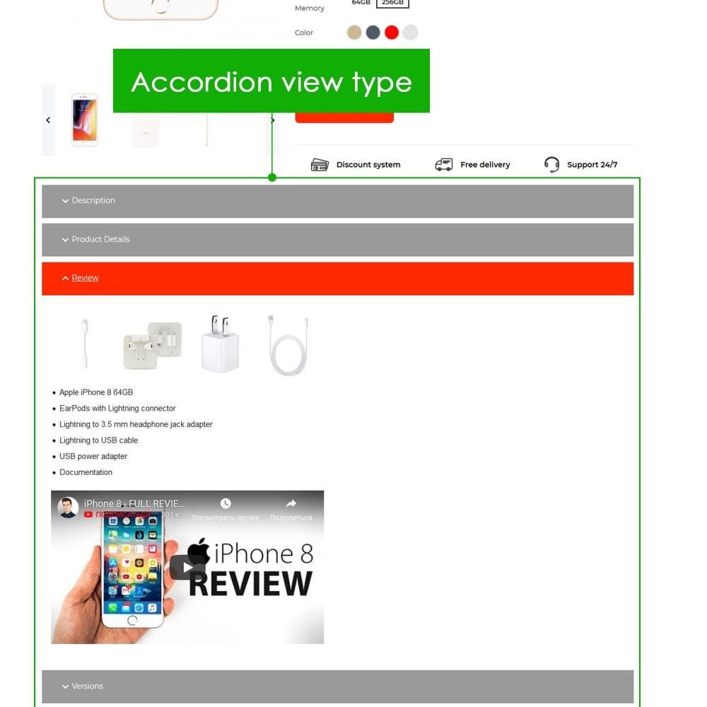 module - Information supplémentaire & Onglet produit - Product Extra Tabs Premium - 8
