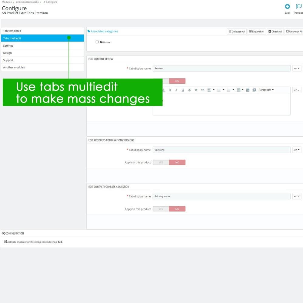 module - Information supplémentaire & Onglet produit - Product Extra Tabs Premium - 10