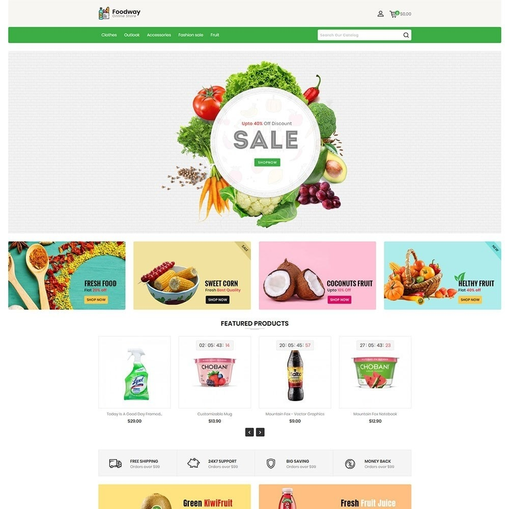 theme - Alimentation & Restauration - Foodway Online Store - 2