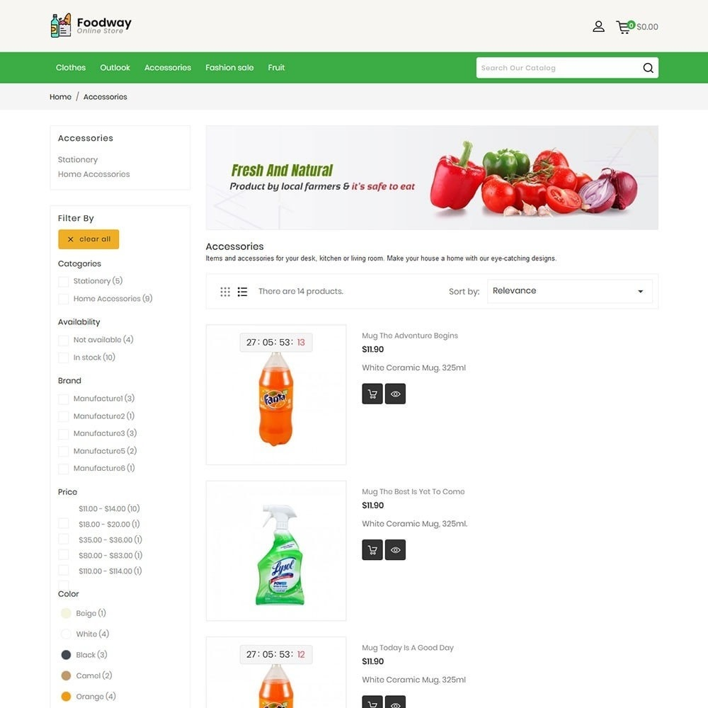 theme - Alimentation & Restauration - Foodway Online Store - 3