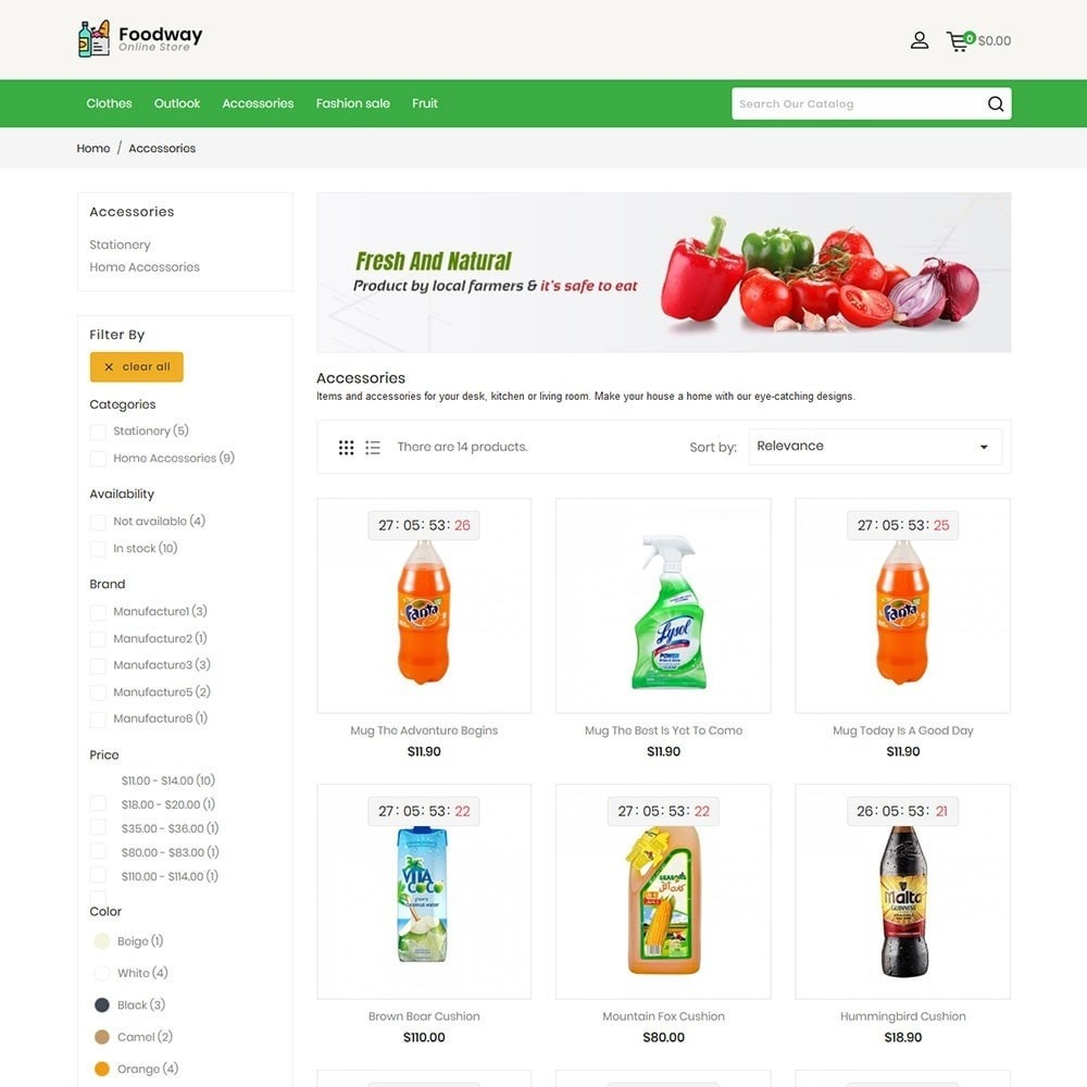 theme - Alimentation & Restauration - Foodway Online Store - 4