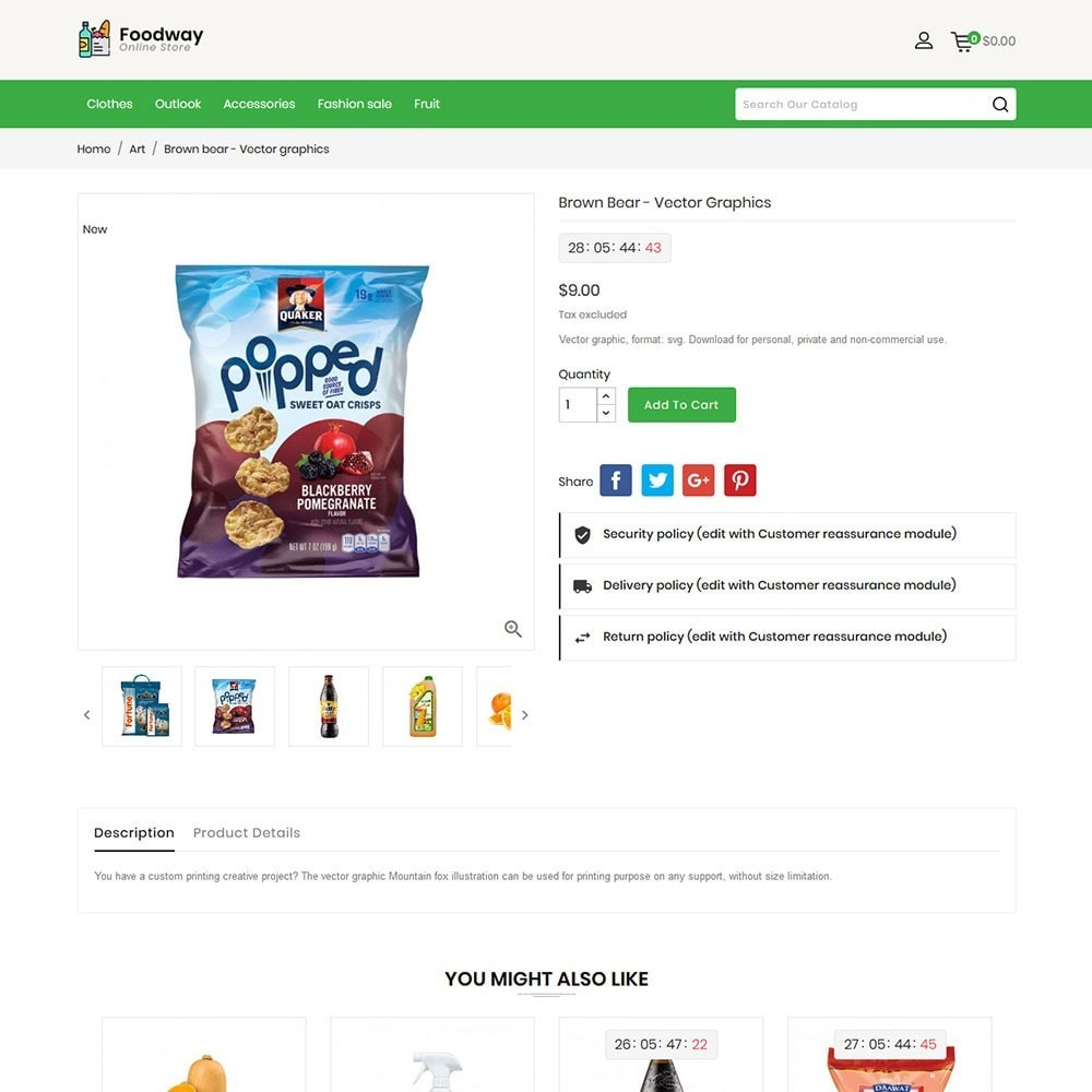 theme - Alimentation & Restauration - Foodway Online Store - 5