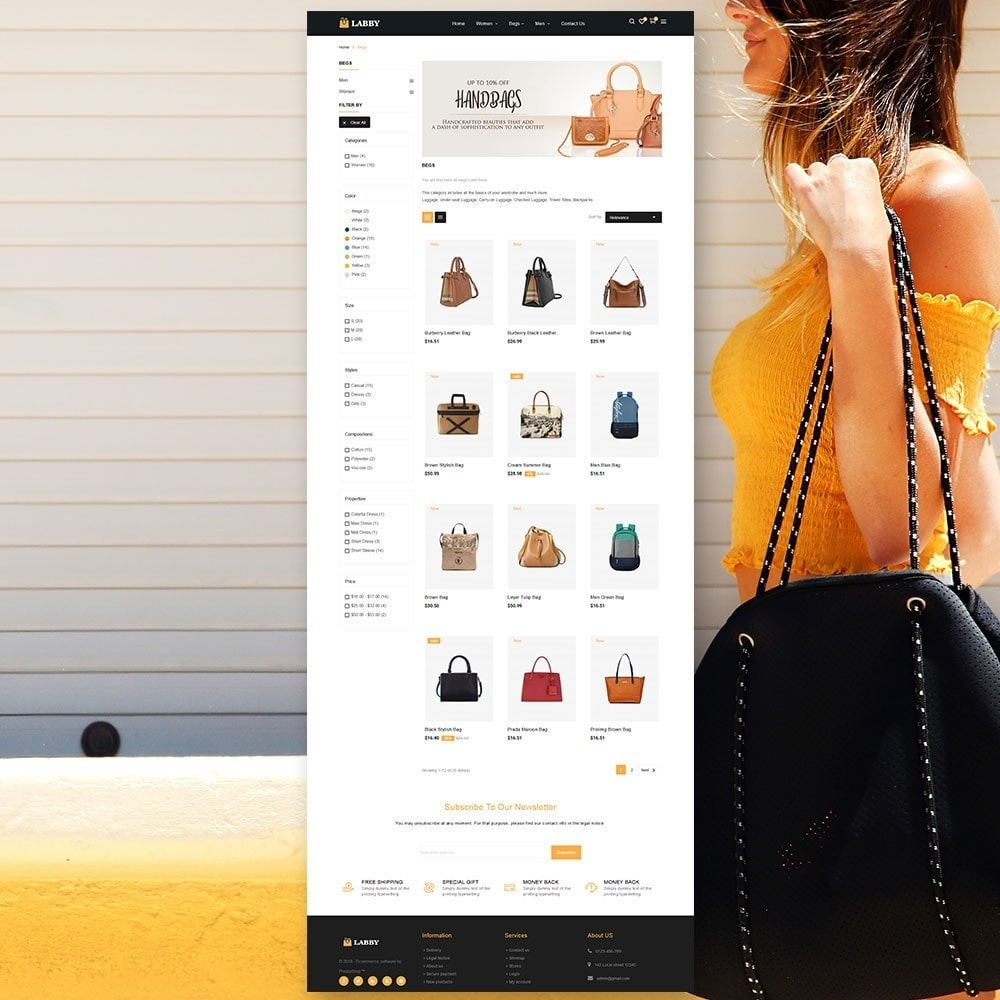 theme - Biżuteria & Akcesoria - Torba Parallax Store - 4