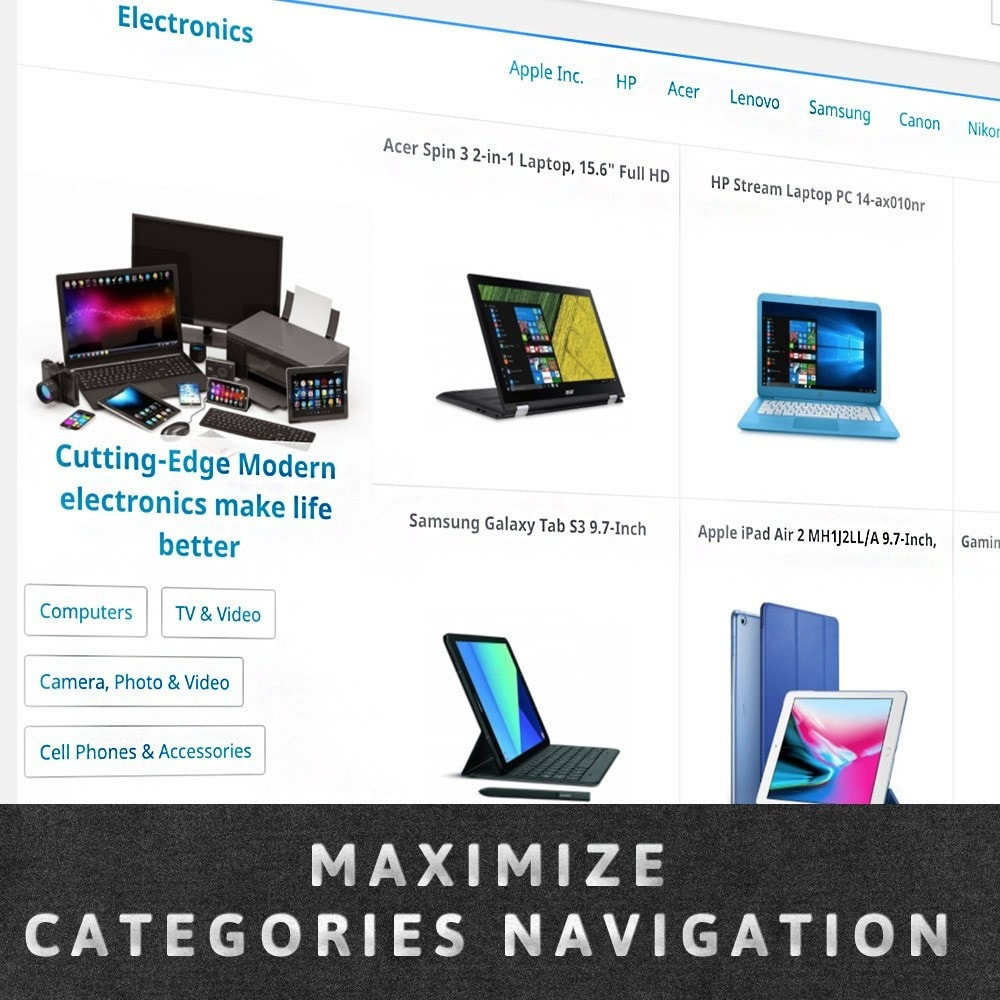 module - Personalizacja strony - MAX Category Navigation (AliExpress) - 1