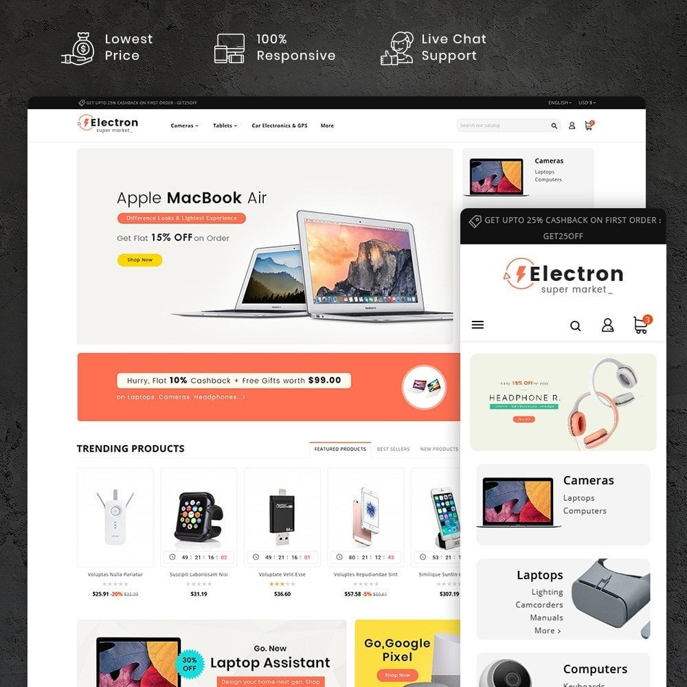 theme - Electronique & High Tech - Electron - Digital Store - 1