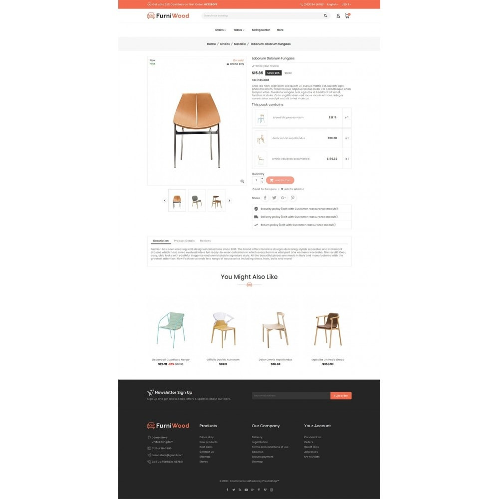 theme - Casa & Jardins - FurniWood - Sofa & Chairs - 5