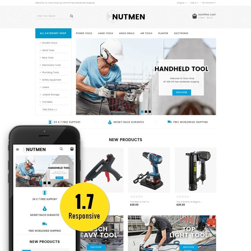 theme - Automotive & Cars - Nutmen Tools Store - 1