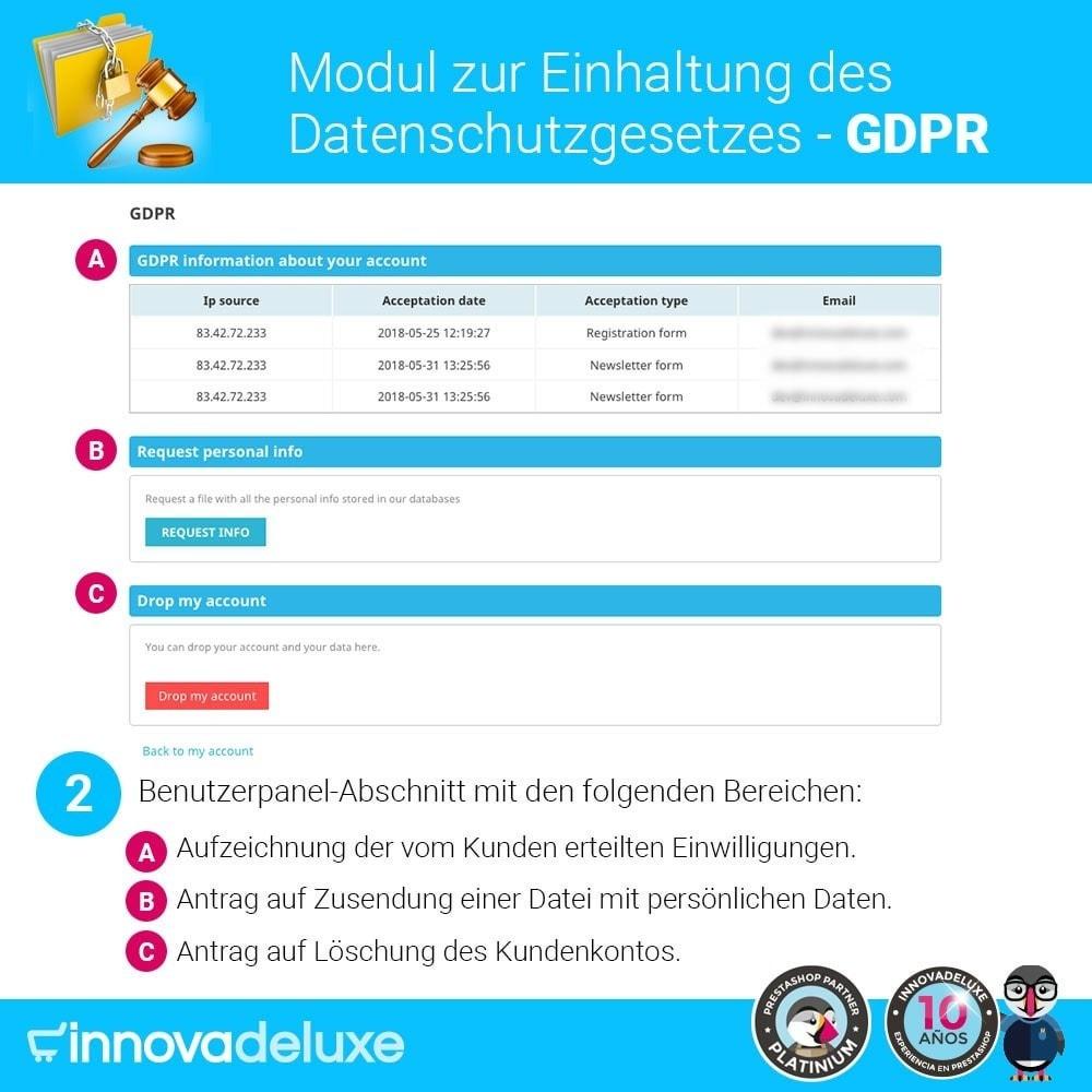 module - Rechtssicherheit - Einhaltung der Datenschutzgesetze - GDPR - 3