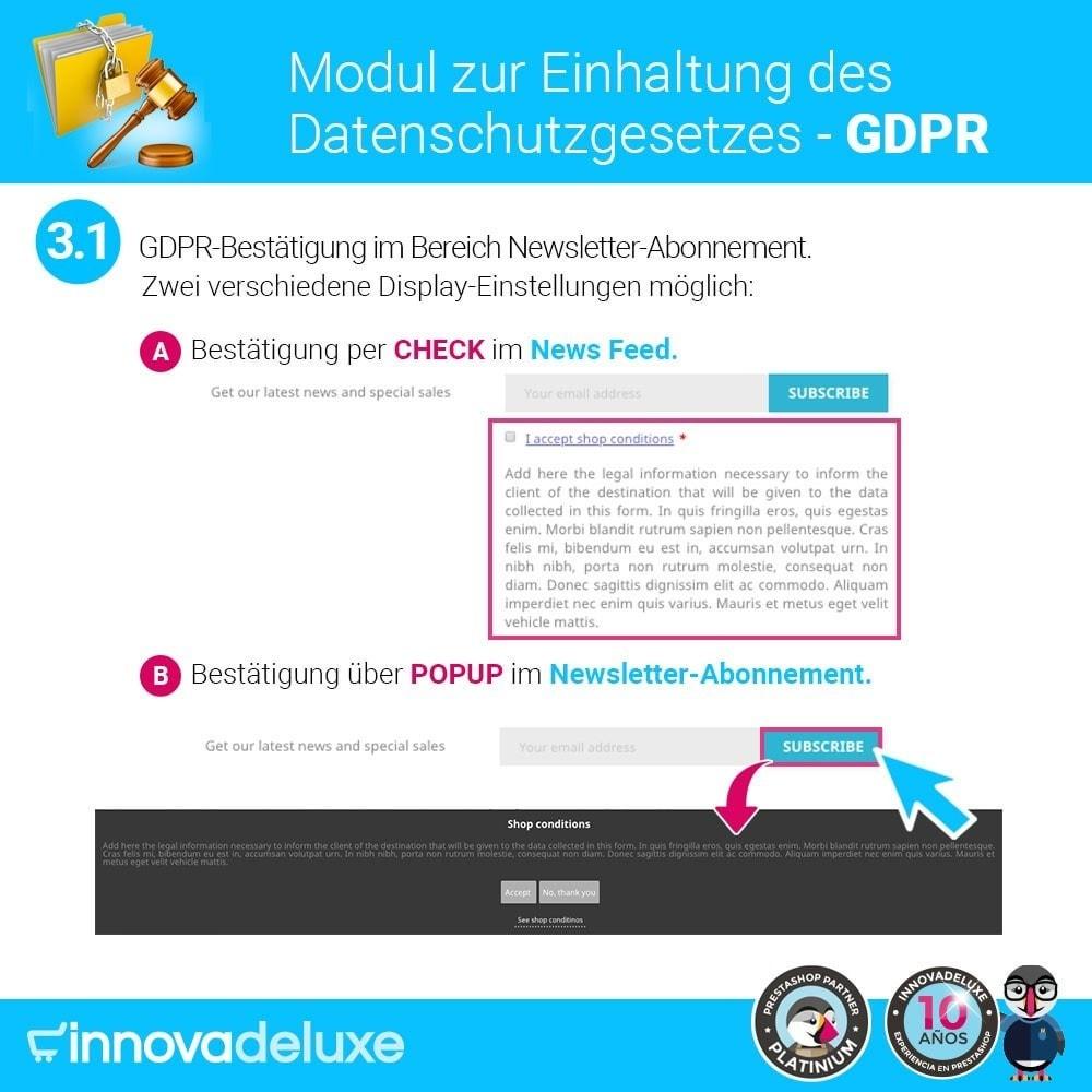 module - Rechtssicherheit - Einhaltung der Datenschutzgesetze - GDPR - 4