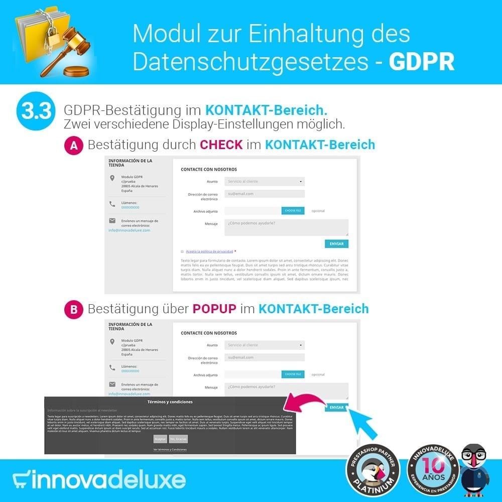 module - Rechtssicherheit - Einhaltung der Datenschutzgesetze - GDPR - 6