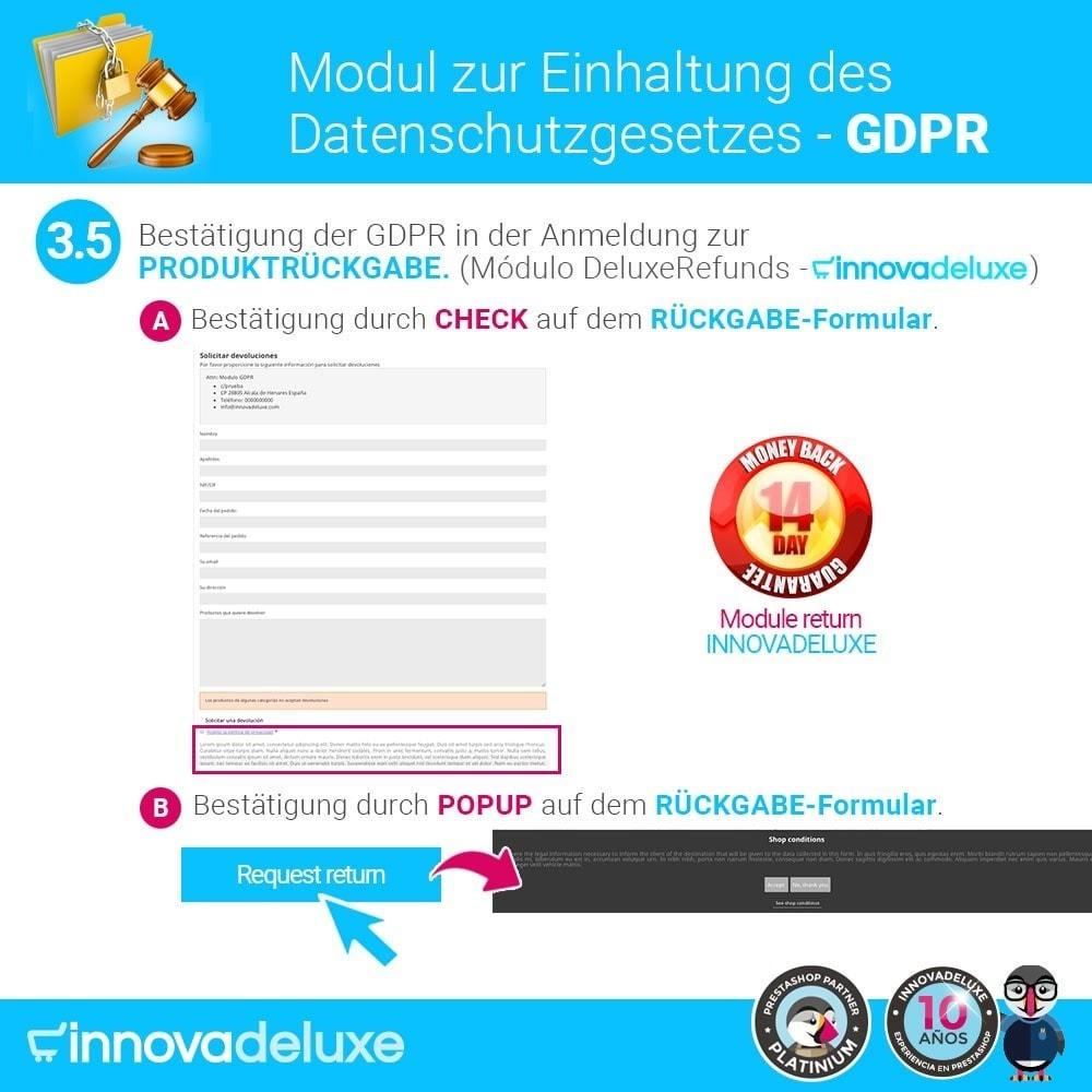 module - Rechtssicherheit - Einhaltung der Datenschutzgesetze - GDPR - 8