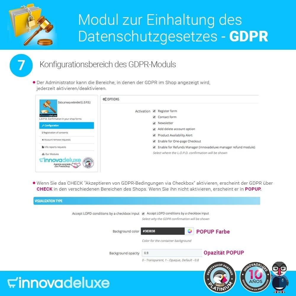 module - Rechtssicherheit - Einhaltung der Datenschutzgesetze - GDPR - 12