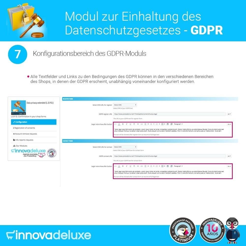 module - Rechtssicherheit - Einhaltung der Datenschutzgesetze - GDPR - 13