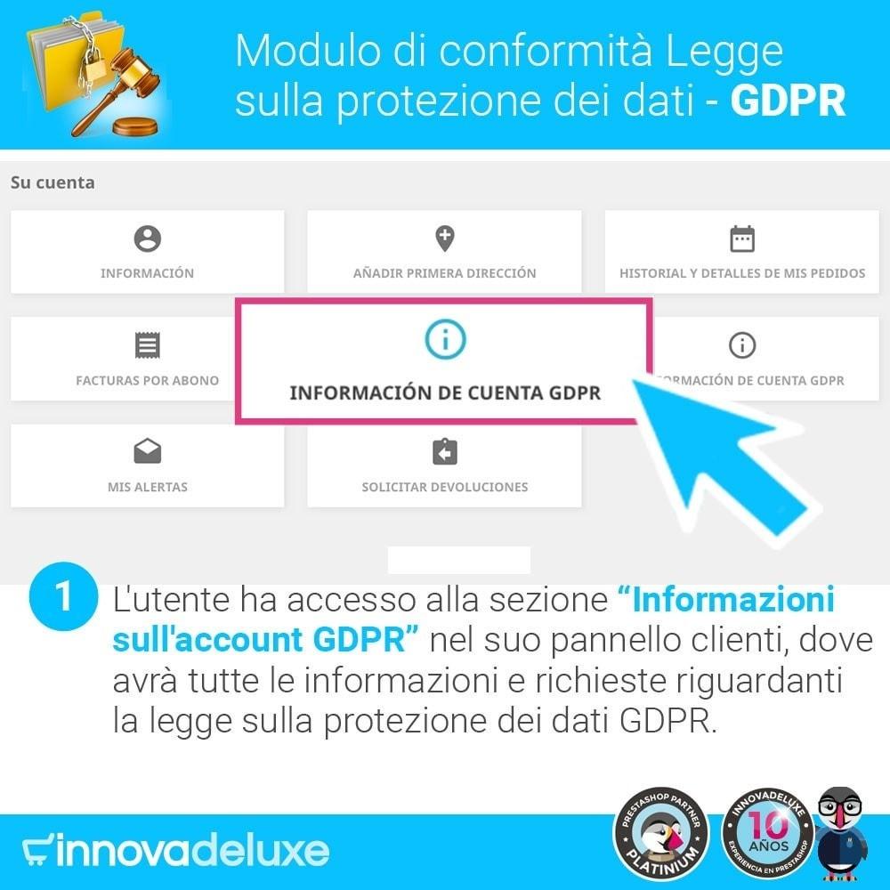 module - Legale (Legge Europea) - Codice in materia di Protezione dei Dati Personali RGPD - 2