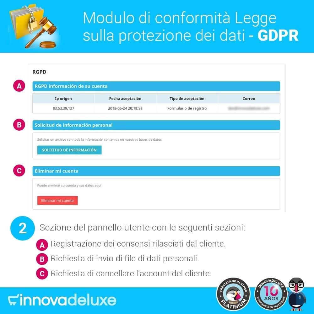 module - Legale (Legge Europea) - Codice in materia di Protezione dei Dati Personali RGPD - 3
