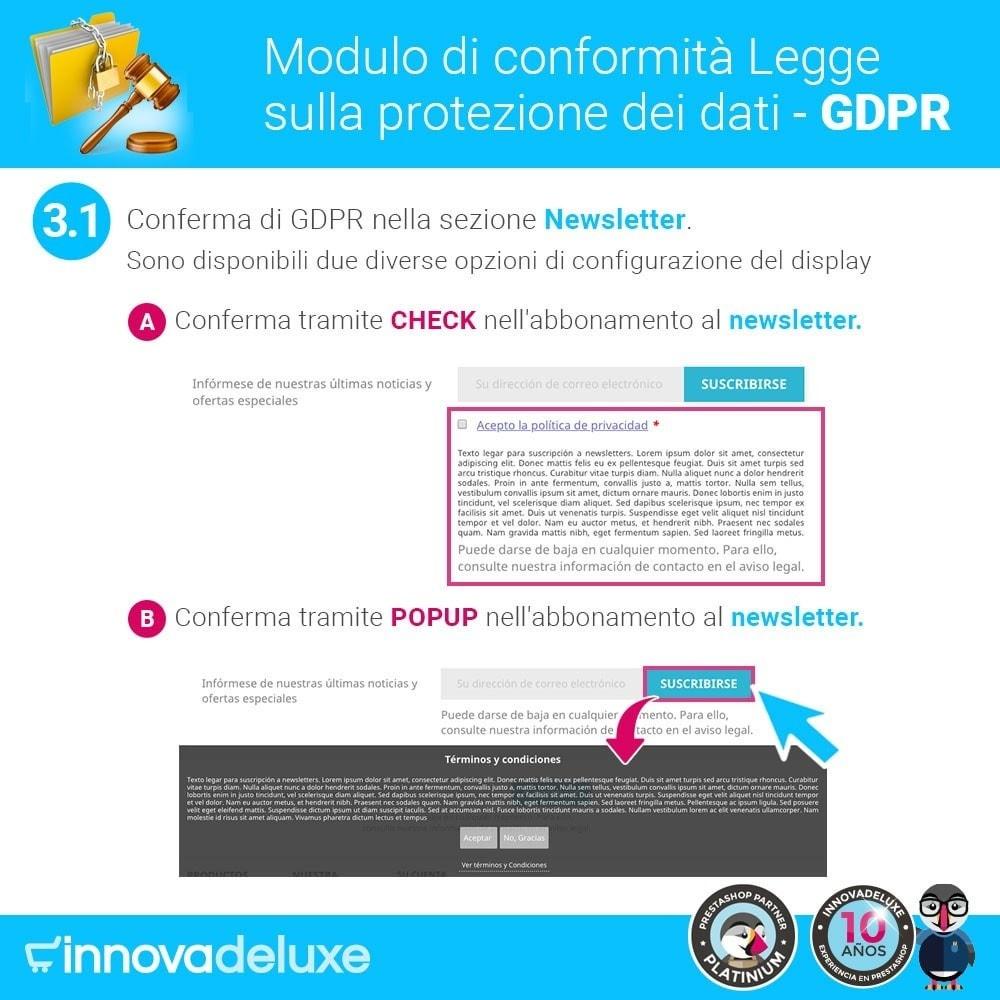 module - Legale (Legge Europea) - Codice in materia di Protezione dei Dati Personali RGPD - 4