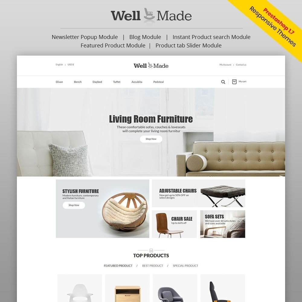 theme - Мода и обувь - Wellmade Light Furniture Store - 1