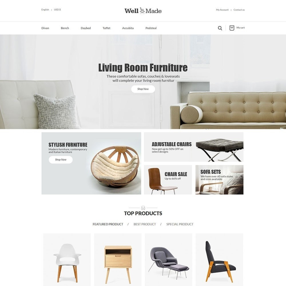 theme - Мода и обувь - Wellmade Light Furniture Store - 2
