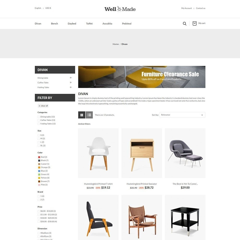 theme - Мода и обувь - Wellmade Light Furniture Store - 3
