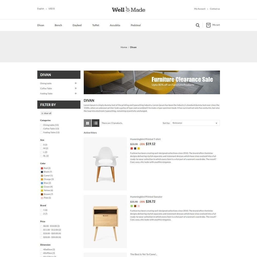 theme - Мода и обувь - Wellmade Light Furniture Store - 4