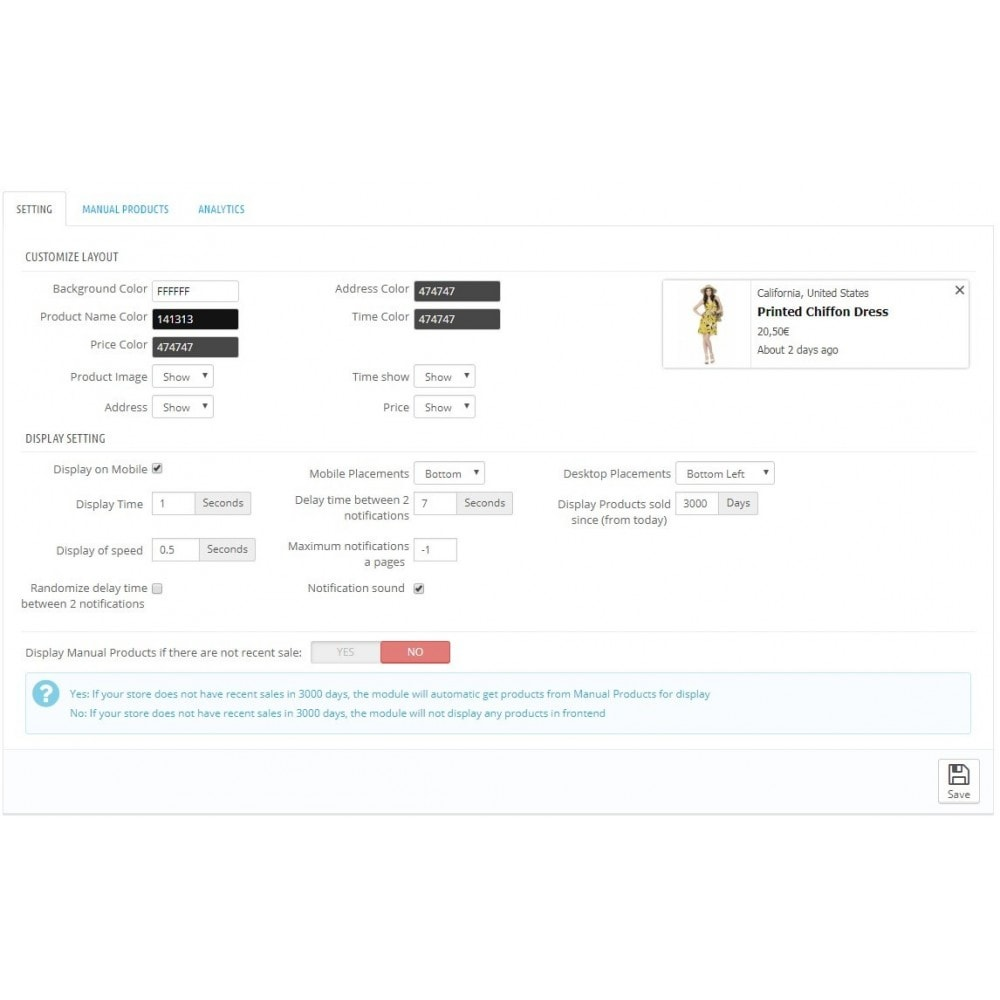 module - Processo de pedido - Display Recent Sales Popup Notifications - 2