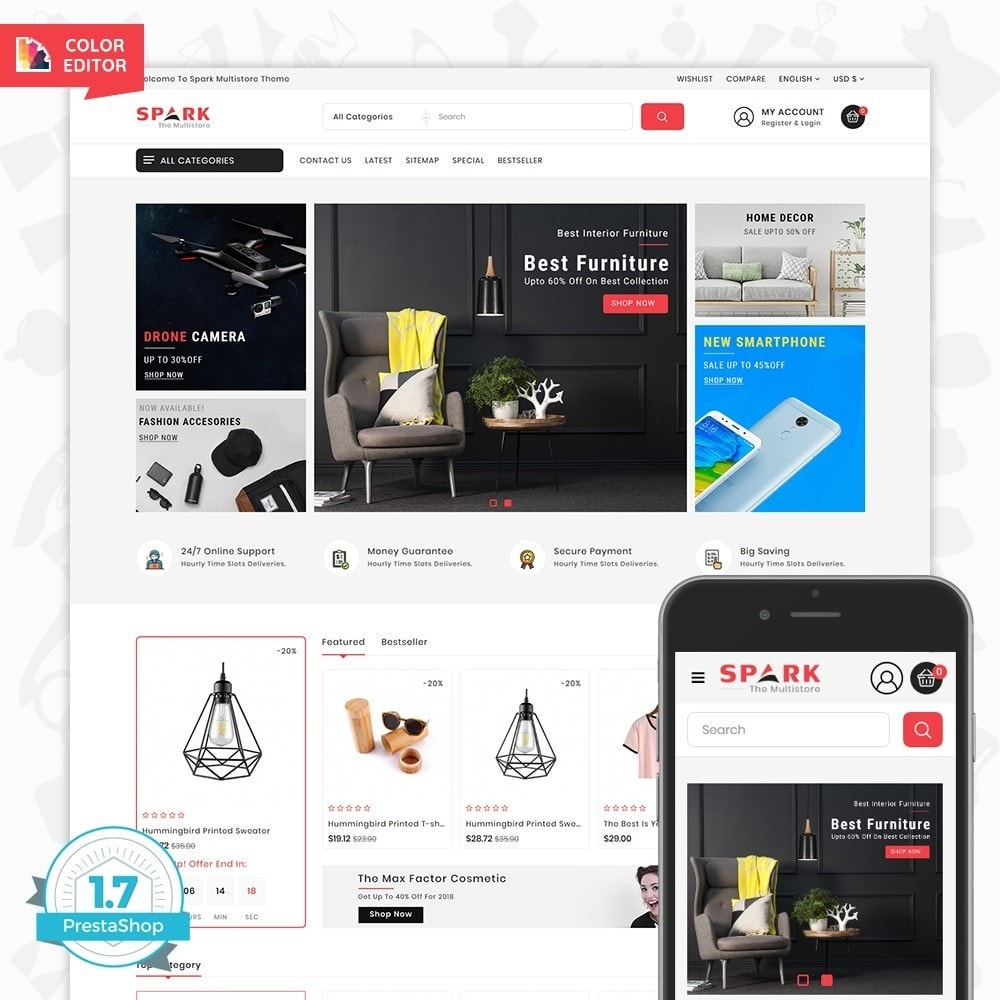 theme - Mode & Chaussures - Spark - The Multi Mega Store - 1