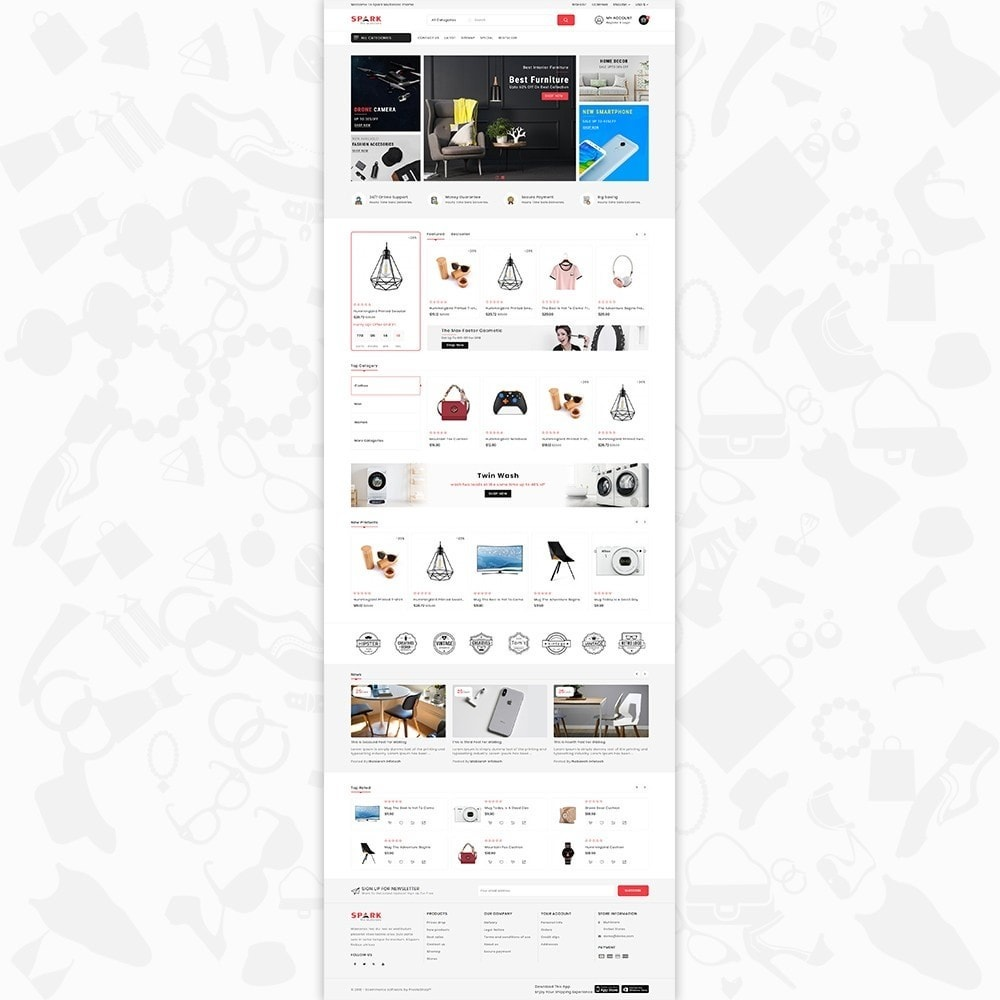 theme - Mode & Chaussures - Spark - The Multi Mega Store - 2