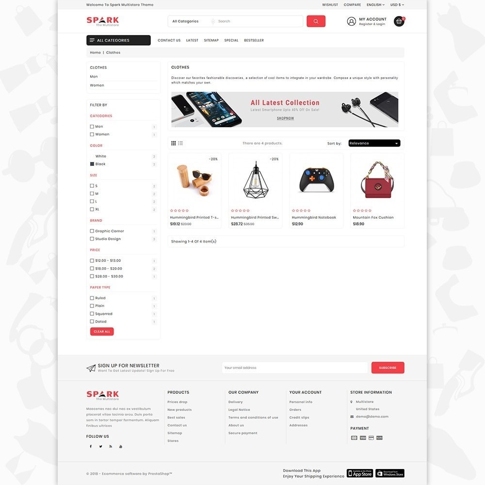theme - Mode & Chaussures - Spark - The Multi Mega Store - 3