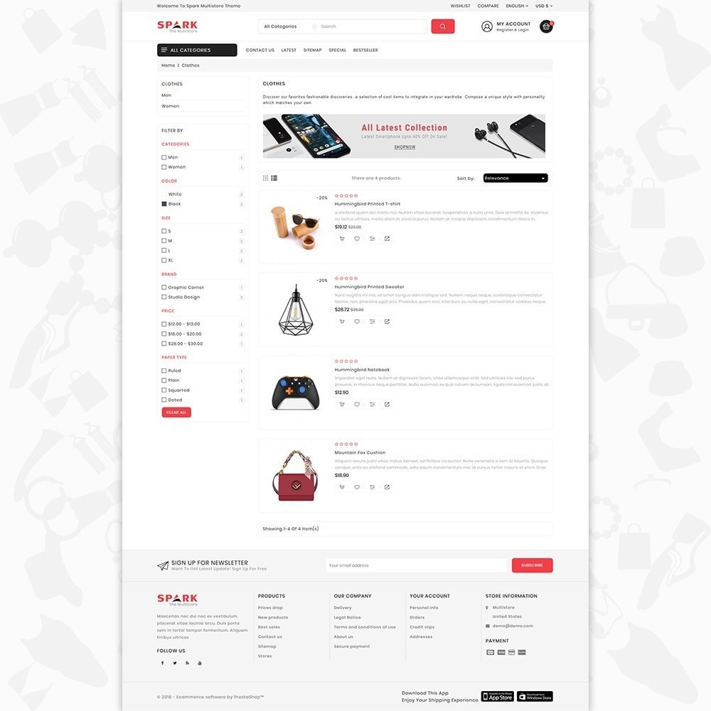 theme - Mode & Chaussures - Spark - The Multi Mega Store - 4