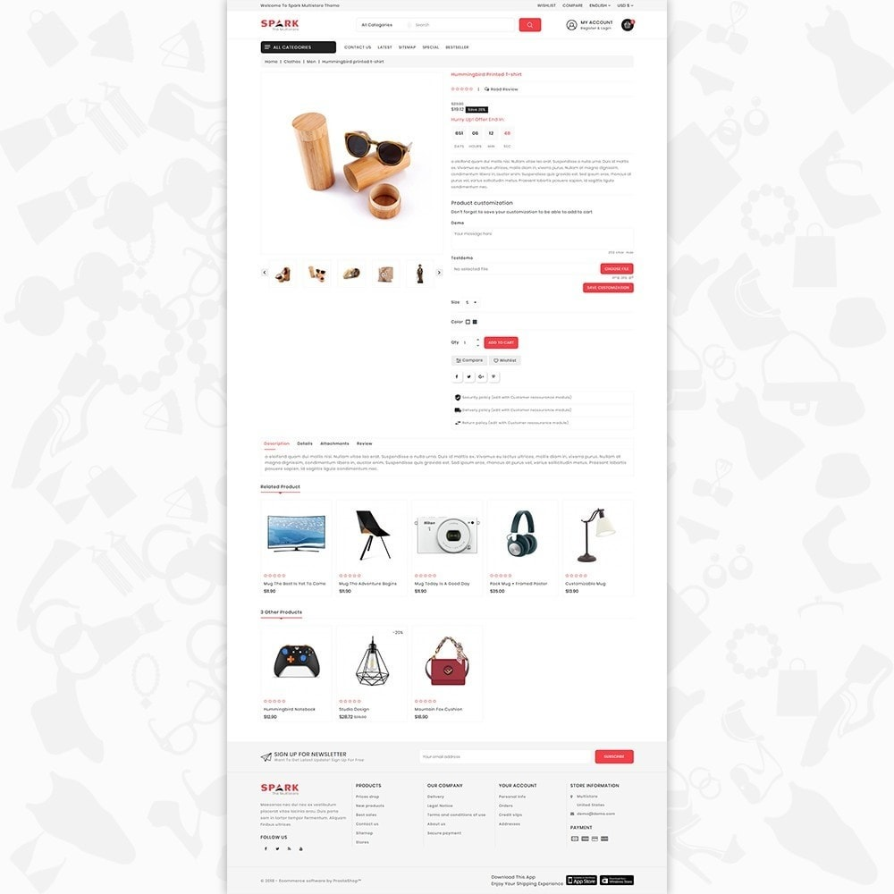 theme - Mode & Chaussures - Spark - The Multi Mega Store - 5
