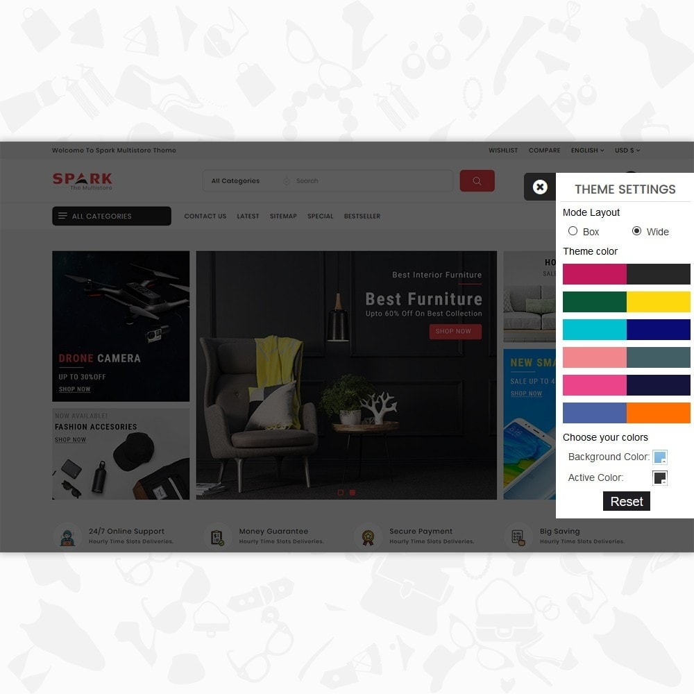 theme - Mode & Chaussures - Spark - The Multi Mega Store - 8