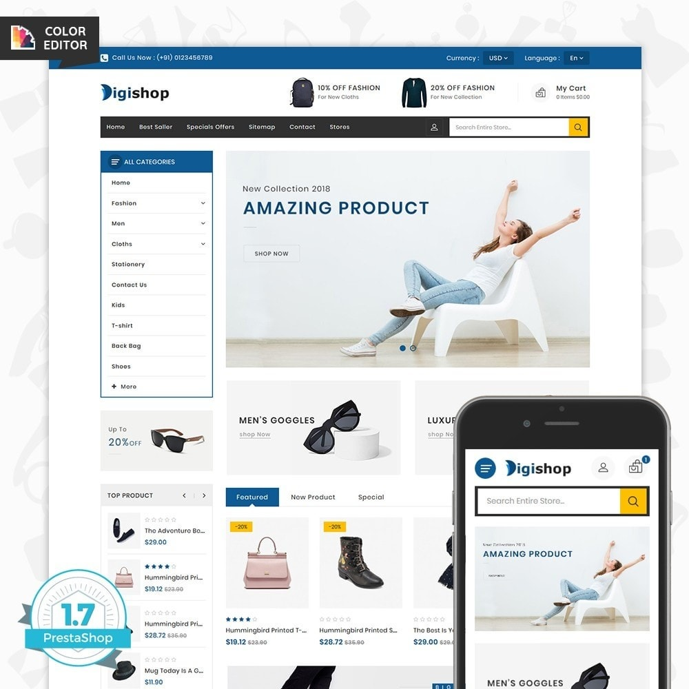 theme - Mode & Schuhe - DigiShop - Fashion Store - 1