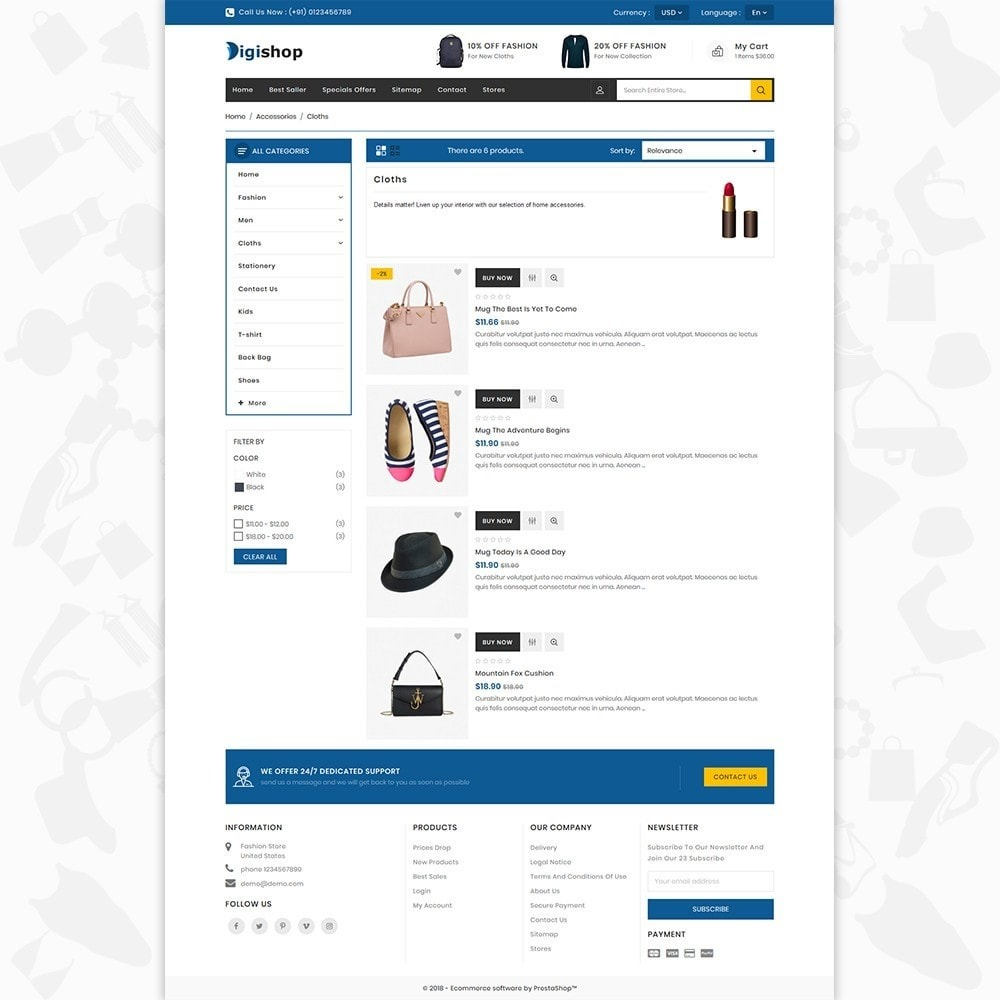 theme - Mode & Schuhe - DigiShop - Fashion Store - 4