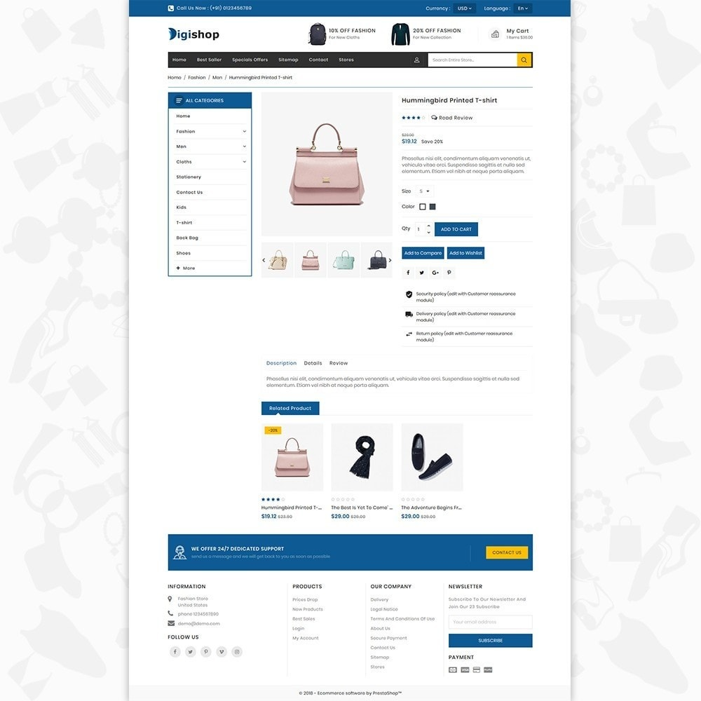 theme - Mode & Schuhe - DigiShop - Fashion Store - 5