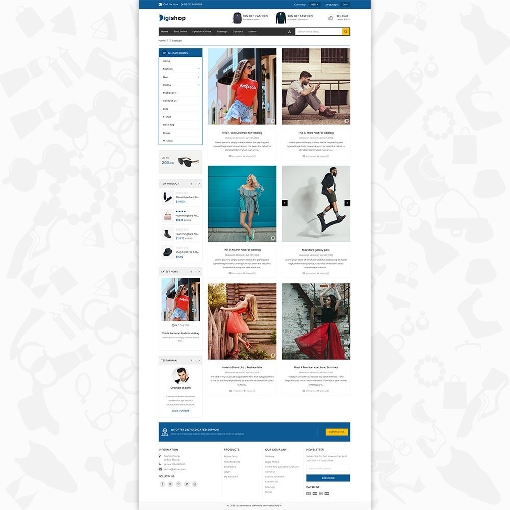 theme - Mode & Schuhe - DigiShop - Fashion Store - 6