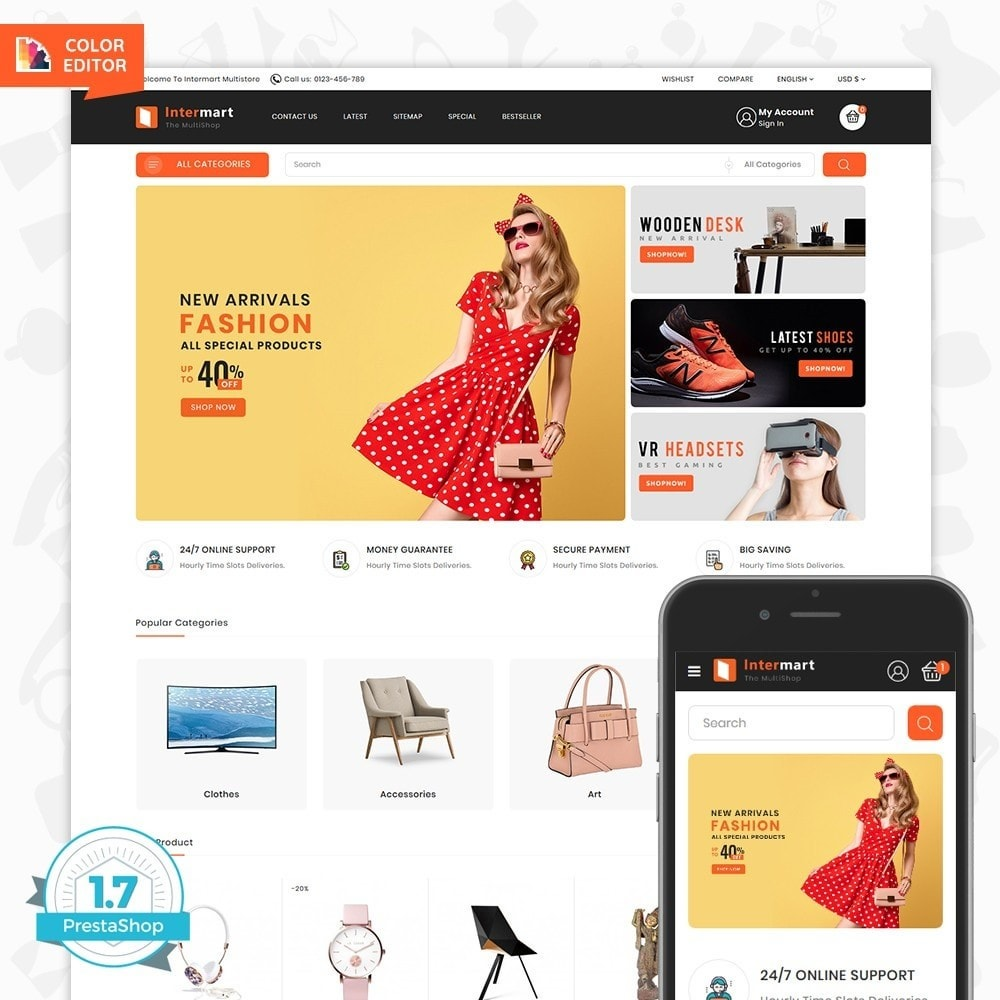 theme - Eletrônicos & High Tech - InterMart - Online Shopping Mart - 1