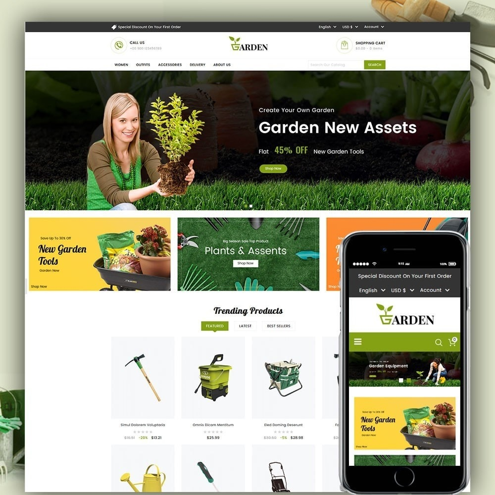 theme - Maison & Jardin - Garden Tools - 1