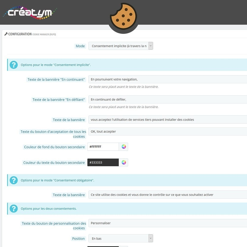 module - Législation - Cookie Manager (RGPD) - 7