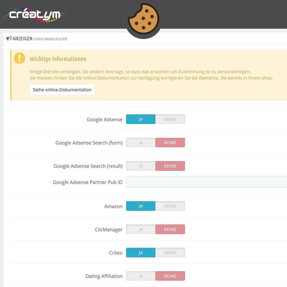 module - Rechtssicherheit - Cookie Manager (DS-GVO) - 8