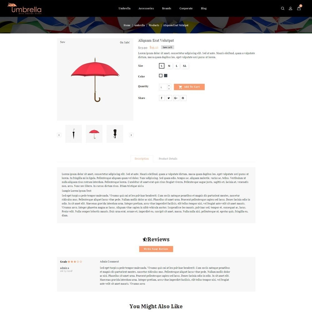 theme - Mode & Schuhe - Umbrella Store - 5