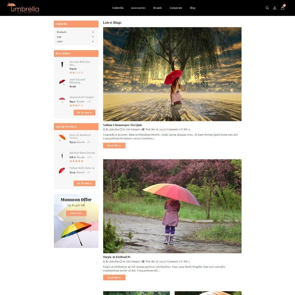 theme - Mode & Schuhe - Umbrella Store - 7