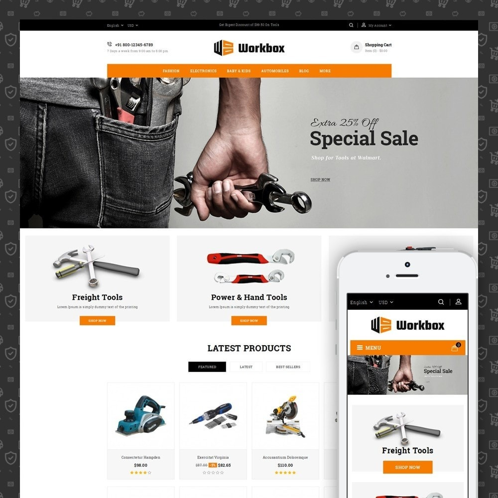 theme - Auto & Moto - Work Box- Tools Store - 1