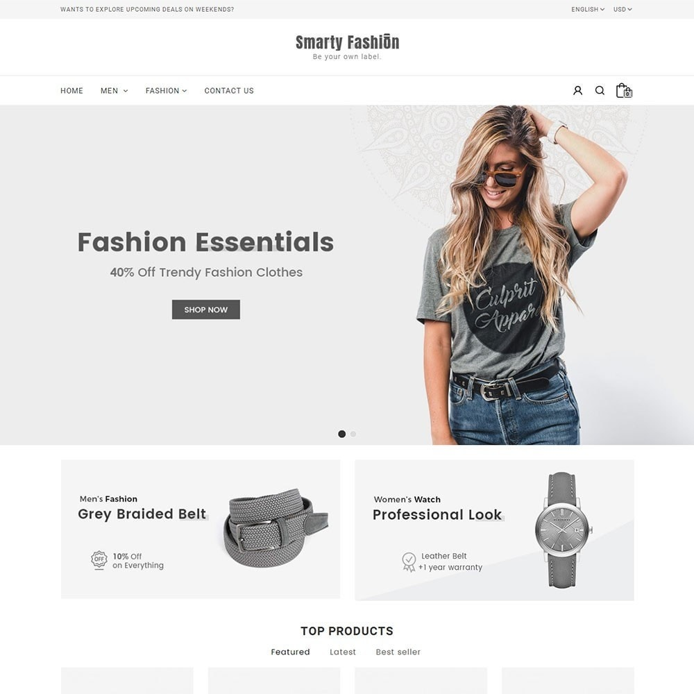 theme - Fashion & Shoes - Smarty Fashion Store - 2