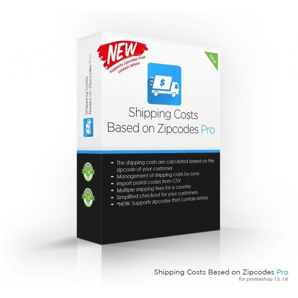 module - Shipping Costs - Shipping Costs per Zipcode, Zone, Country, State, City - 1