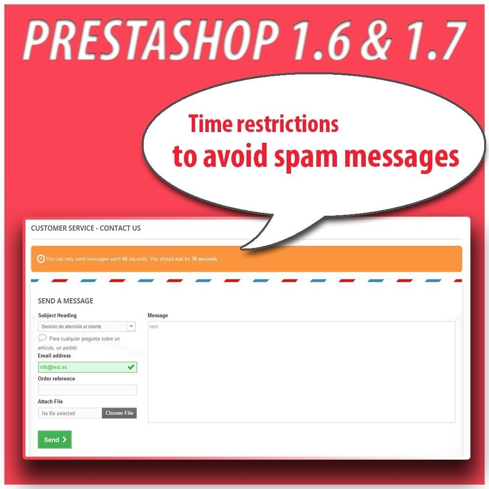 module - Безопасности и доступа - Anti-spam Protector - 9