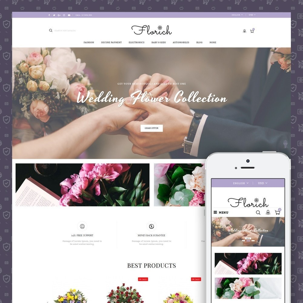 theme - Presentes, Flores & Comemorações - Florich - Wedding Flowers Store - 1