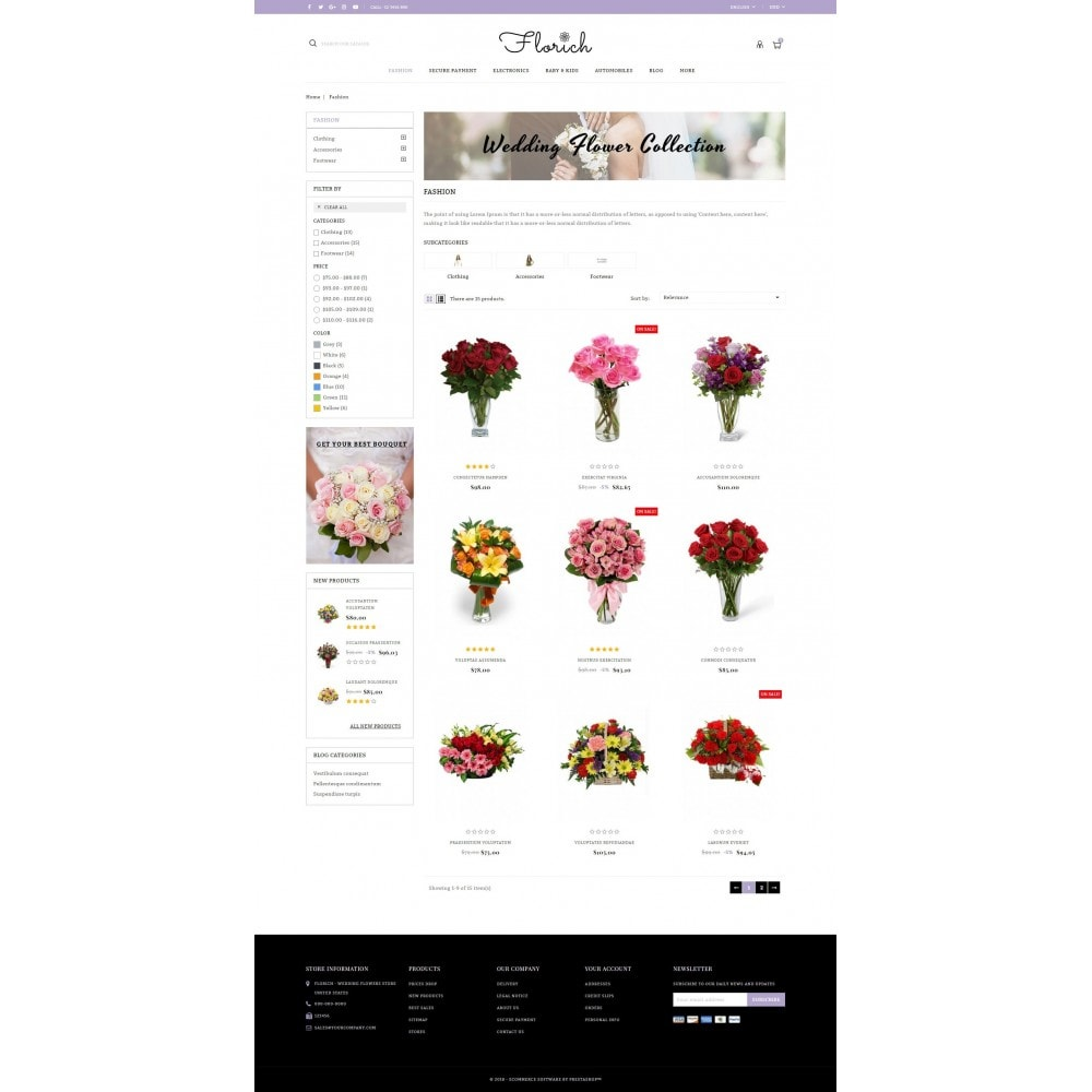 theme - Presentes, Flores & Comemorações - Florich - Wedding Flowers Store - 3