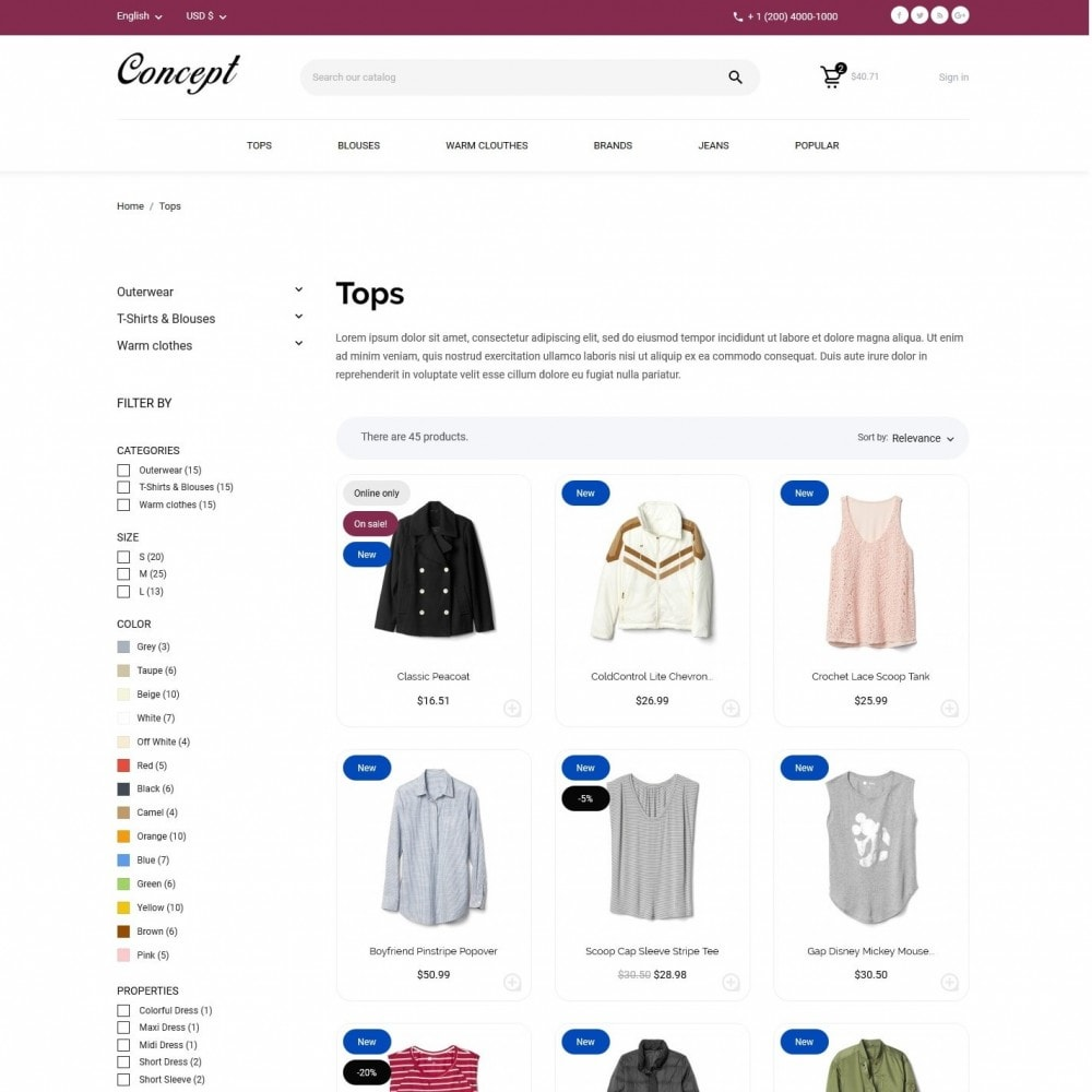 theme - Мода и обувь - Concept Fashion Store - 5