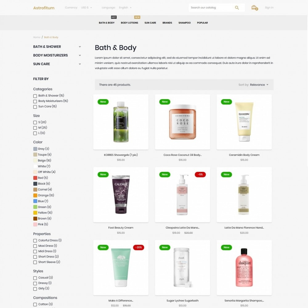 theme - Health & Beauty - Astrofitum Cosmetics - 5