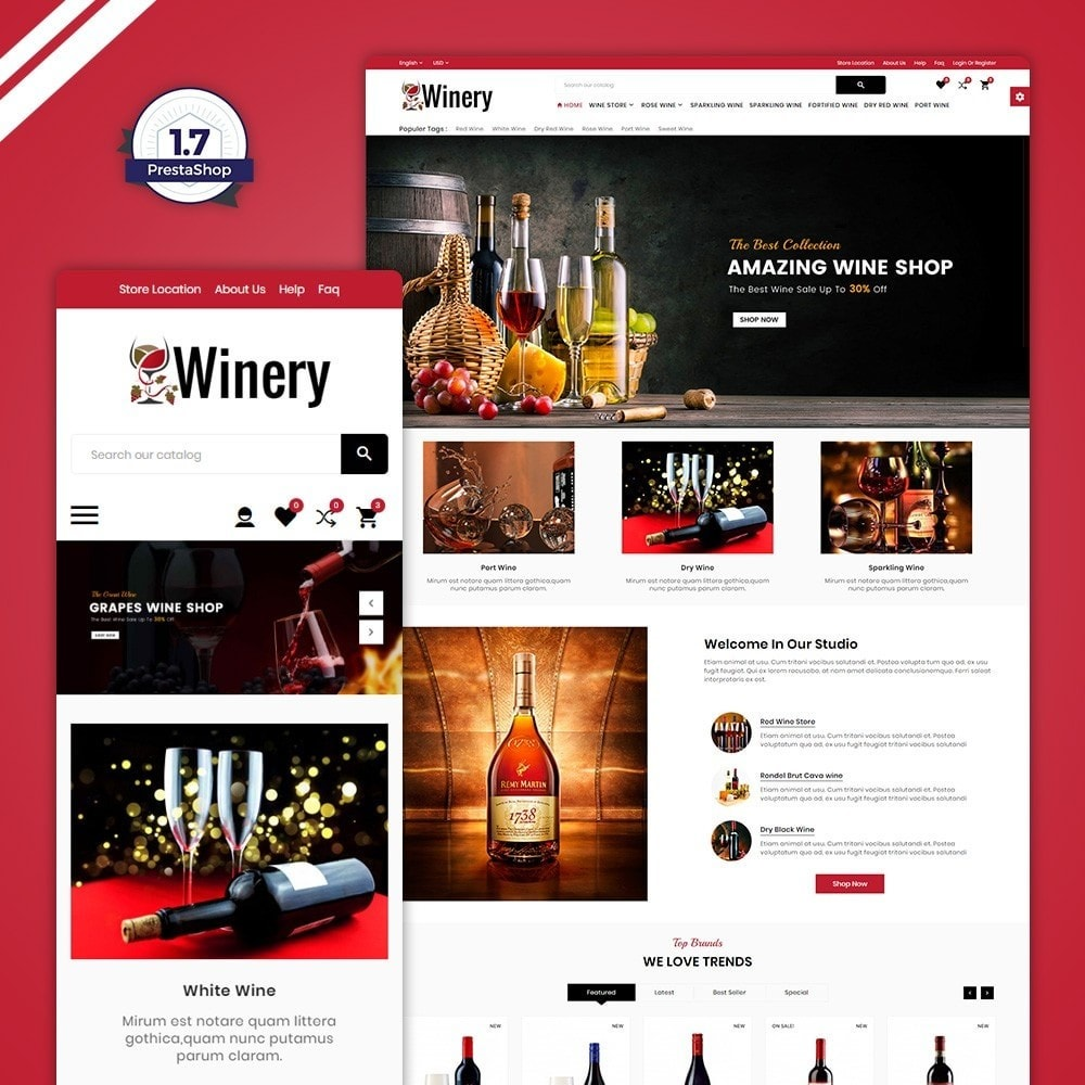 theme - Drink & Tobacco - Winery – France Wine Shop - 1